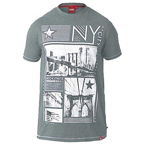 D555 Herren T-Shirt khaki Mischung - grün