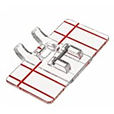 #2: as photo shows : Clear Plastic Parallel Stitch Foot Presser Press For Home Domestic Sewing Machine Sewing Accessories Tools Press Foot