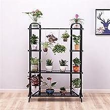 LIGUIHU Soporte de flores, soporte para plantas de hierro de metal, estante de almacenamiento