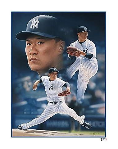 MLB New York Yankees Masahiro Tanaka Victory Fine Art Print