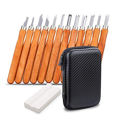 Holz-Schnitzwerkzeug Set, NASUM 12 teiliges Holz-Schnitzmesser und