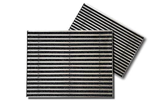 SWmat Fußabtreter für innen und außen | hochwertiges Aluminium | Fußmatte mit hoher Reinigungswirkung | Sauberlaufmatte | Eingangsmatte mit Alu Einbaurahmen | Türmatte einbau |Anthrazit | 60 x 80 cm