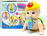 #3: Babytintin Cute and Clever Crawling Baby with Light and Music, Crawling and Dancing Baby Toy for Kids Multi Color
