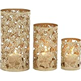 Karigari Home Decor Pillar Tealight Candle Holder Collection Stand Wall Sconce Handicrafts