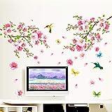 Vovotrade Grandes Fleurs Cerisier Fleur Papillon Arbre Stickers Muraux Art Decal...