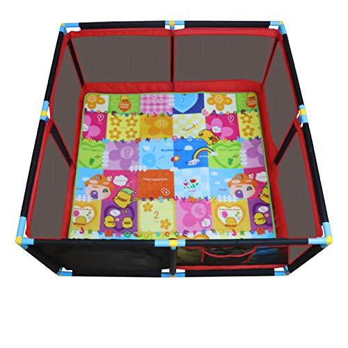 Recinzione del Bambino, Kids 8 Panel Playard Box Recinzione Portatile da Gioco Lavabile con Custodia per Il Trasporto Maglia Traspirante per Neonati Toddler, Indoor E Outdoor 128cm