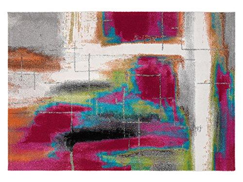 Arredo carpet milano prestige tappeto stilizzato multicolor moderno soft touch adatto per la camere ed il soggiorno 60x110 cm