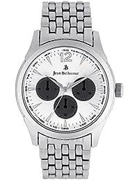 Reloj hombre JEAN Bellecour de cuarzo reloj plateado 42 mm y pulsera en alloy plateado jb1063