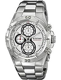 Titan Octane Chronograph White Dial Men's Watch -NF9308SM01MA