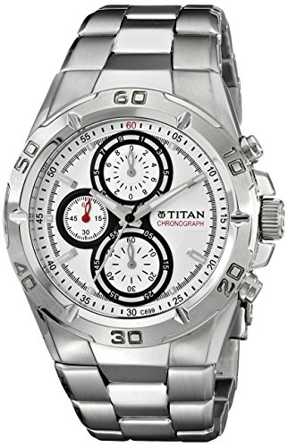 Titan Octane Chronograph White Dial Men's Watch - NF9308SM01MA