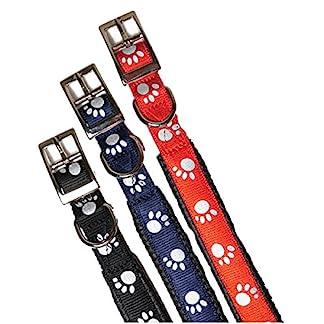 "(Reflective) Soft Protection Paws Dog Collar 20 x 3/4"" (Black)"" 3"