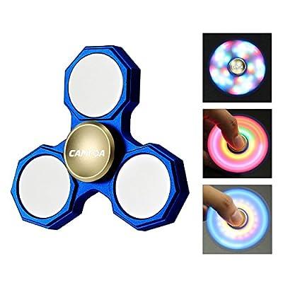 Hand Spielzeug,CAMTOA LED Licht Hand Finger Fidget Spielzeug mit 3 Modus leuchtend,für ADD,ADHS,Angst und Autismus Erwachsene Kinder Tri-Spinner