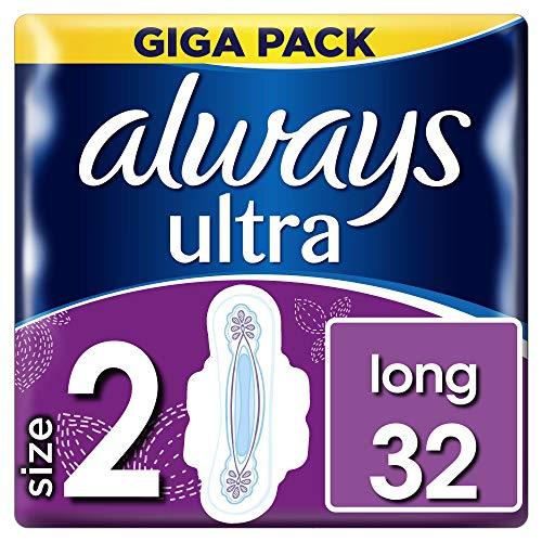 Always Ultra Long Binden (mit Flügeln) Größe:2, 3er Pack (3 x 32Stück)