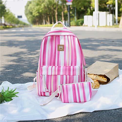 Rosa Junior Handtaschen (YZBB Schultasche, Koreanische Version, Harbin Ulzzang High School Student Rucksack Straße, Kleine Frische Junior High School Student Umhängetasche, rosa Handtaschen und Kleine Bücher)