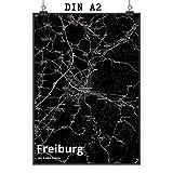 Mr. & Mrs. Panda Poster DIN A2 Stadt Freiburg Stadt Black -