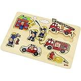 Goki 57907 - Steckpuzzle - Feuerwehr