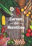 Carnet de recettes: Carnet de recettes à remplir de 96 pages | 7x10 pouces | Notez vos créations culinaires dans ce carnet pour ne rien oublier