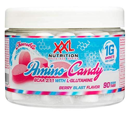 Vegetarische Kautabletten (Amino Candy - 90 Kautabletten - Berry Blast)