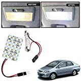 #7: Vheelocityin 24 SMD Dome Light 24 LED Car Roof Light with spring adjustable bracket For Honda City ZX