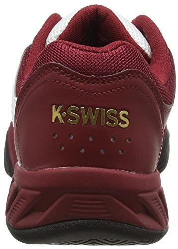 K-Swiss Performance Bigshot Light 2.5, Scarpe da Tennis Uomo Bianco (White (50Th/Wht/Red/Gold 957))