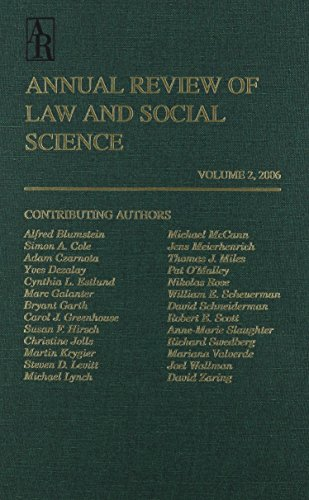 Law & Social Science Vol. 2 (Annual Review of Law and Social Science) por Individuals
