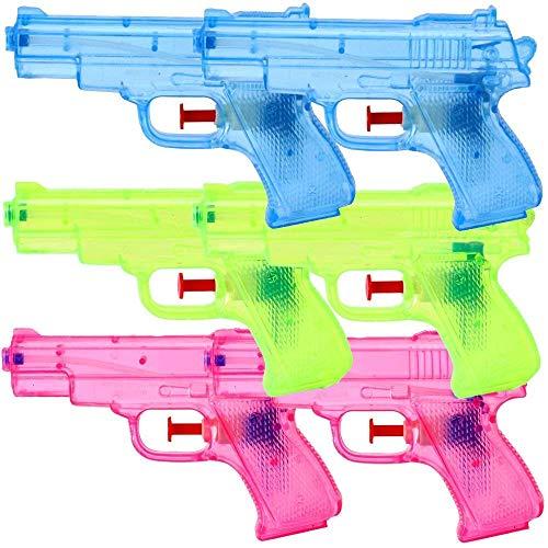 6 Piece Water pistols Spray guns Set 13 cm Children Birthday Party Take home