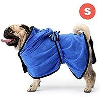 GiBot Toallas para Perro, Secado rápido de microfibra y Hidrófugo Toalla seca para baño Toalla Absorbente Súper Suave para Perros y Gatos, Pequeña, 36cm, Azul