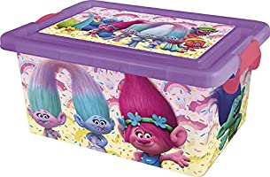 Trolls - 7 Litre Container with Lid, Lockable, Box Stor) (05214)