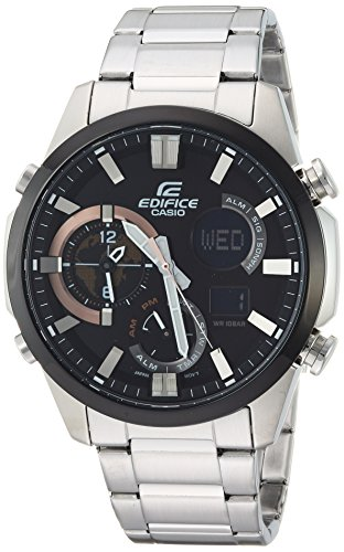 Casio Men's 'Edifice' Quartz Stainless Steel Casual Watch, Color Silver-Toned (Model: ERA-500DB-1ACR)