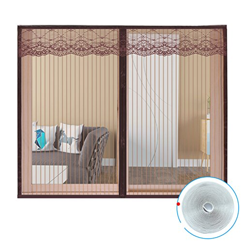 Full frame velcro zanzariere, setaccio a maglie zanzara killer schermo magnetico porta camera da letto cucina snap chiuso automaticamente pesanti-a 180x150cm(71x59inch)