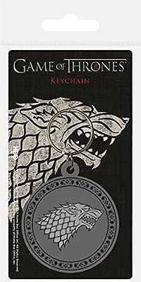 Pyramid International Game of Thrones-Stark Rubber Keychain, Metal, Multi-Colour, 4 x 6 x 1.3 cm