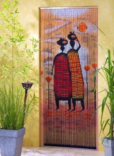 Unbekannt Bambustürvorhang Bambusvorhang Mombasa ca. 115 x 220 cm