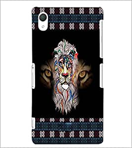 PrintDhaba Tiger D-3026 Back Case Cover for SONY XPERIA Z3 (Multi-Coloured)