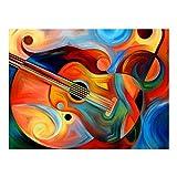 Healifty 5D Unframed Bild Diamant Stickerei Malerei von Abstrakte Geige Violine Kreuzstich Set Handwerk Dekoration