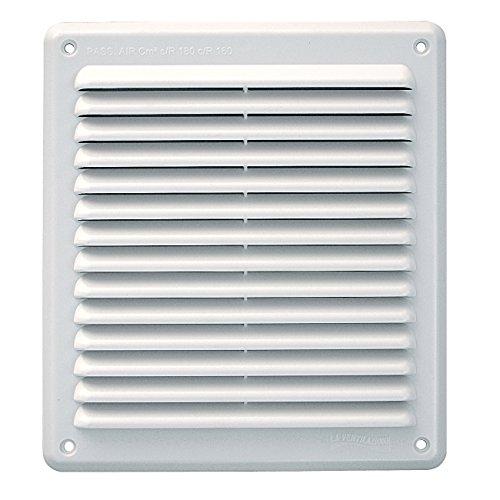 La Ventilazione AR2023B Griglia di Ventilazione in Plastica Rettangolare da Sovrapporre, Bianco, 204x230 mm