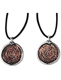 etNox-Anhänger ''Diskos von Phaistos'' Bronze teilversilbert (BK5719)