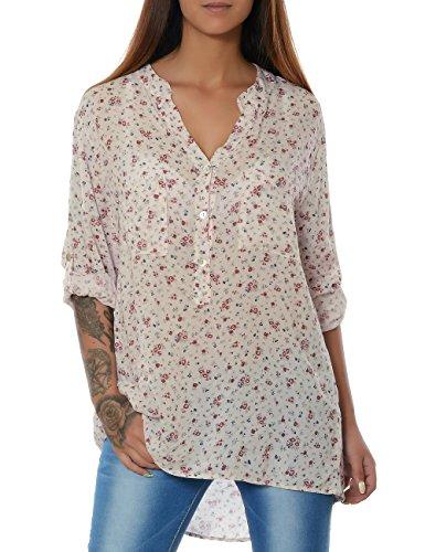 d76de28d90e9f6 Damen Bluse Casual Hemd Top Oberteil Long-Shirt Tunika 3 4 Arm No 15642
