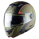 Astone Helmets Klapphelm, Venom Kaki/Schwarz, XL