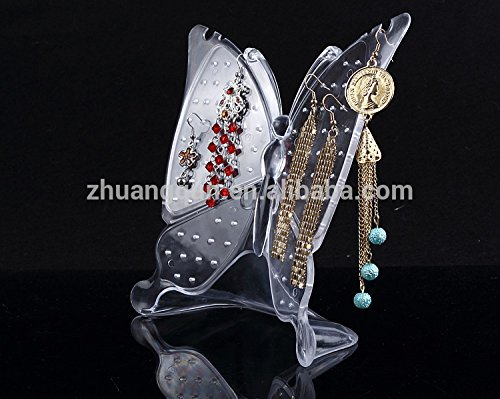 Crystal Butterfly earring holder stand jewelry organizer By Celebration
