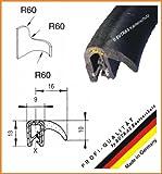 EUTRAS Dichtungsprofil KSD2101 Türgummi Kofferraumdichtung  – Klemmbereich 1,5 – 3,5 mm - schwarz - 3 m