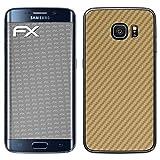 atFolix Samsung Galaxy S6 Edge Skin FX-Carbon-Gold Designfolie Sticker - Carbon-Struktur/Carbon-Folie