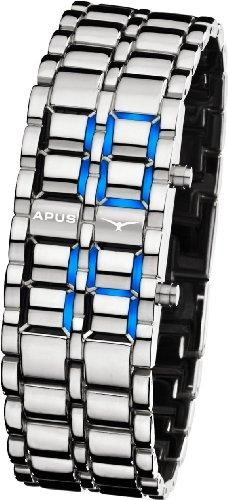 apus-zeta-silver-blue-led-watch-for-him-design-highlight