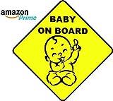 Adesivo per auto Bambino a bordo - Baby on borad - - Diversi Modelli - avviso di sicurezza e prudenza (PIC 1)