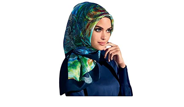 Armine Femme Carré de soie foulard turque Bleu vert  Amazon.fr  Vêtements  et accessoires 96116c206c5