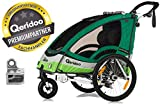 Qeridoo Sportrex 2 Fahrradanhänger 2017 - 2 Kinder, Farbvariante:grün