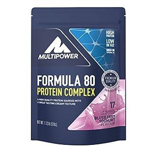 Multipower Formula 80 Protein Complex – Mehrkomponenten Protein Pulver für den Muskelaufbau – Proteinpulver mit Casein für eine langfristige Versorgung – 510 g