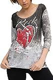 trueprodigy Casual Damen Marken T-Shirt mit Aufdruck, Oberteil cool und stylisch mit Rundhals Ausschnitt (Kurzarm & Slim Fit), Top für Frauen Bedruckt Farbe: Schwarz 1073532-2999-XL