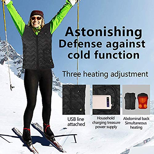 51fnhh57evL. SS500  - OUTANY USB Rechargeable Electric Body Warm Vest, Freely Adjustable 4 Sizes, Heated Clothing, Adjustable Temperature, Washable