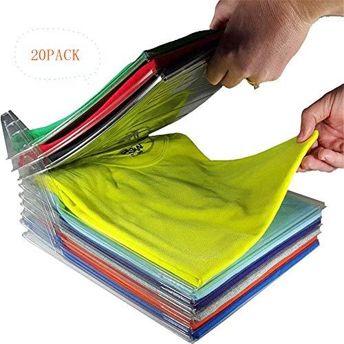 Organizador de armarios,Carpeta de Archivo y Camiseta Carpeta de tamaño Normal, 20-Pack