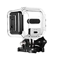 Taotree GoPro Session 5 Waterproof Housing Standard Protective Case Replacement with Bracket & Screw for GoPro Session 5 Session 4 - 45m Underwater Diving (GoPro Session 5 Housing)